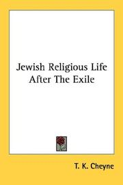 Cover of: Jewish religious life after the exile