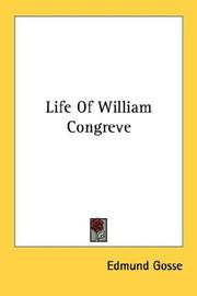 Cover of: Life of William Congreve