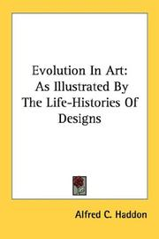 Cover of: Evolution in art: as illustrated by the life-histories of designs.