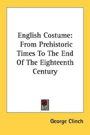 Cover of: English Costume