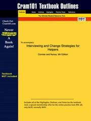 Cover of: Interviewing and Change Strategies for Helpers (Cram101 Textbook Outlines - Textbook NOT Included) | Cormier