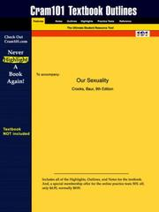 Cover of: Our Sexuality (Cram101 Textbook Outlines - Textbook NOT Included) | Crooks