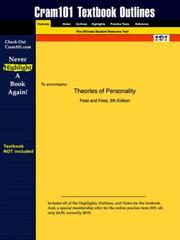 Cover of: Theories of Personality | Feist