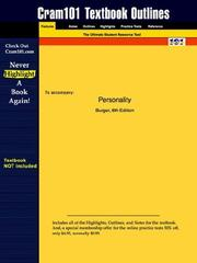 Cover of: Personality | Burger