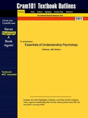 Cover of: Essentials of Understanding Psychology (Cram101 Textbook Outlines - Textbook NOT Included) | Feldman