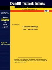 Cover of: Concepts in Biology (Cram101 Textbook Outlines - Textbook NOT Included) | Enger