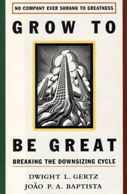 Cover of: Grow to be great