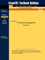Cover of: E-Commerce Management | Krishnamurthy