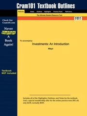 Cover of: Investments | Mayo