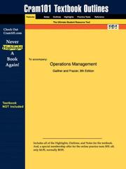 Cover of: Operations Management (Cram101 Textbook Outlines - Textbook NOT Included) | Gaither