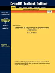 Cover of: Essentials of Psychology | Coon