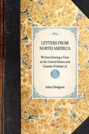 Cover of: Letters from North America | Adam Hodgson