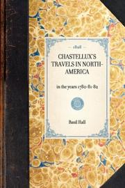Cover of: Chastellux's Travels in North-America