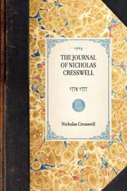 Cover of: The Journal of Nicholas Cresswell | Nicholas Cresswell