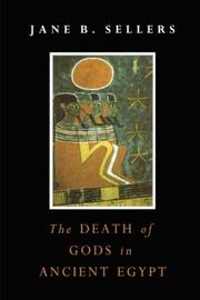 Cover of: The Death of Gods in Ancient Egypt