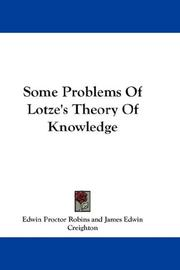 Cover of: Some Problems Of Lotze