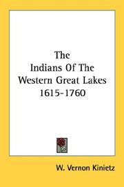 Cover of: The Indians of the western Great lakes, 1615-1760