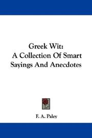 Cover of: Greek Wit | Frederick Apthorp Paley