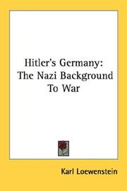 Cover of: Hitler's Germany