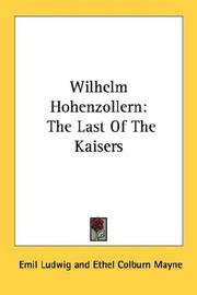 Cover of: Wilhelm Hohenzollern | Emil Ludwig