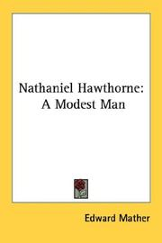 Cover of: Nathaniel Hawthorne | Edward Mather