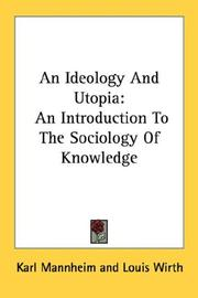 Cover of: An Ideology And Utopia