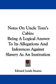 Cover of: Notes On Uncle Tom