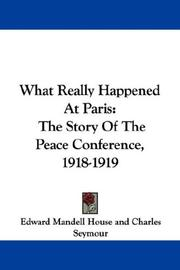 Cover of: What Really Happened At Paris |