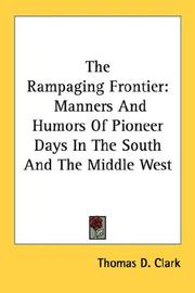 Cover of: The Rampaging Frontier