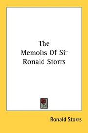 Cover of: The Memoirs Of Sir Ronald Storrs