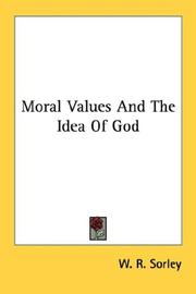 Cover of: Moral values and the idea of God