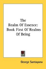Cover of: The realm of essence