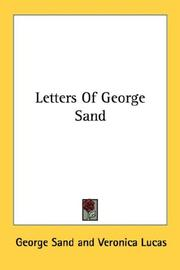 Cover of: Letters of George Sand