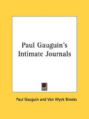 Cover of: Paul Gauguin's intimate journals