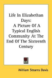 Cover of: Life in Elizabethan Days