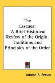 Cover of: The Essenes