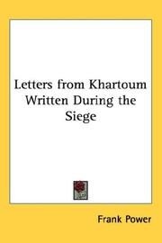 Cover of: Letters from Khartoum Written During the Siege