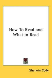 Cover of: How To Read and What to Read