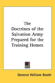 Cover of: The Doctrines of the Salvation Army Prepared for the Training Homes