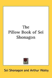 Cover of: The Pillow Book of Sei Shonagon