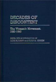 Cover of: Decades of Discontent |