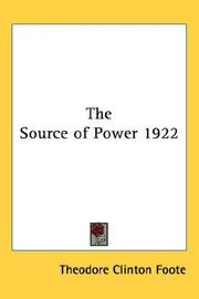 Cover of: The Source of Power 1922