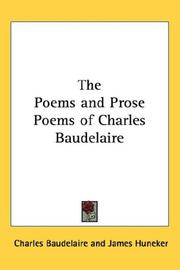 Cover of: The Poems and Prose Poems of Charles Baudelaire