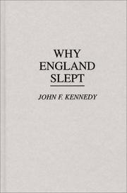 Cover of: Why England slept