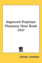 Cover of: Improved Perpetual Planetary Hour Book 1947