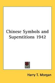 Cover of: Chinese Symbols and Superstitions 1942