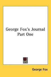 Cover of: George Fox's Journal Part One
