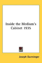 Cover of: Inside the Medium's Cabinet 1935