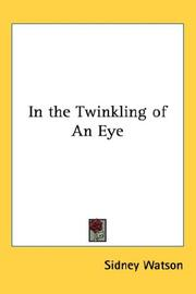 Cover of: In the Twinkling of An Eye