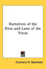 Cover of: Narratives of the Rites and Laws of the Yncas